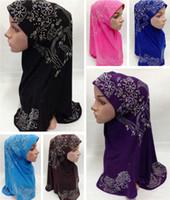 Wholesale 2015 Women Real Scarves Oversized Neck Scarf Modal Shawl Exquisite Fashion Rhinestone hijab Headscarf Muslims Cap