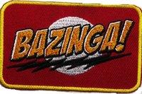 big cooper - BAZINGA The Big Bang Theory Series Slogan TV MOVIE sheldon cooper Costume Uniform Embroidered Emblem x mas gift applique iron on patch