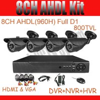 Wholesale 8CH CCTV System DVR Kit TVL CCTV Camera AHDL H Full D1 DVR Security System Outdoor camera IR Cut Support Mobile Phone View