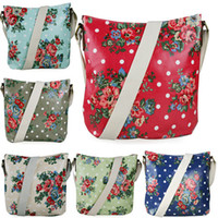 Wholesale MISS LULU Women Girls Flower Floral Oilcloth Medium Size School Work Travel Crossbody Shoulder Satchel Messenger Bag L1425F