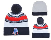 Wholesale Patriots Beanies Best Selling Football Beanies Caps Cheap Team Beanie Caps with Pom Fashion Knitted Beanie Hats Brand Winter Hats Mix Order