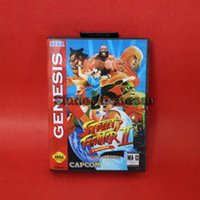 beta card - DC MD SS SEGA Memery Cards Street Fighter II Turbo Beta Version bit MD Game Card With Retail Box For Sega Mega Drive Genesis