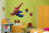 Wholesale 3D Super Hero Spider Man Cool Wall Sticker for Kids Rooms Boys Gift cm