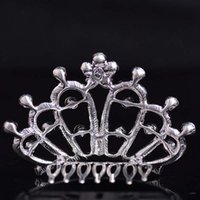 Wholesale New Bridal Jewelry Tiaras Crown Korean fashion woman bride crown crystal alloy insert comb hair ornaments decorated wedding accessories