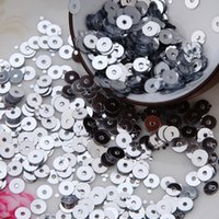 Wholesale 50g silver color mm Flat round loose sequins Paillettes sewing Wedding craft Good quality