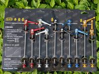 Wholesale 1 pair titanium alloy ti quick release lever the mountain MTB bicycle titanium alloy axis hub quick release lever g