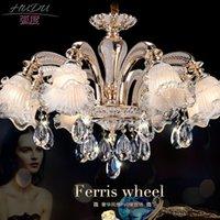 Wholesale Luxury European style retro crystal chandelier lamp Jane penthouse floor bedroom dining room zinc alloy crystal chandelier