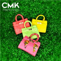 free shipping designer handbags - CMK KB003 Ice Cream Colors Designer Small Tote With Scarf for Girls Kids with PU Leather Handbag Children s Bags gt Fast