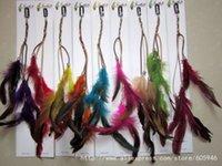 american hair products - FreeShipping clip feather products long feather hair Hair extension wedding accessory
