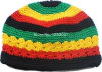 Wholesale Jamaican Rasta hat Bob Marley hat Jameican hat tams fancy dress costumes Crochet rasta beanies Gorro Bob marley cap EM