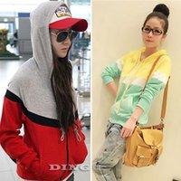 Cheap New 2015 Punk Women Clothing Long Sleeve Hoodies Cotton Zipper Patchwork Sweatshirts Jacket Coat Cardigan Tracksuits1034