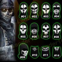 cod - Original COD Ghost Skull Masks Cosplay Balaclava Paintball Outdoor Game Airsoft Hunting Halloween Army Tactical Full Face Mask