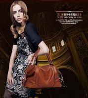 Cheap NEW The Female Leather Women Bags 2015 Hot Women Genuine Leather Women Messenger Bag Vintage handbag designer Retro Bags FREE SHIPPING