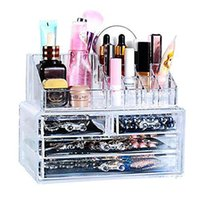 best alps - Best Acrylic Cosmetic Display Organizer Makeup Brushes Holder Two Pieces Set