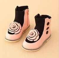age boots - Children Short Boots Winter Hot Sale Fashion Princess Style Girls Boots With Rose Kids Leisure Shoes pair Fit Age T1653