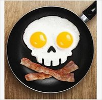 Wholesale Silicone cooking tools Skull head fried egg mold styling tools kitchen gadgets bluesky H152