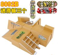 Wholesale Finger skateboard ramp LF8092B suits maximum combined toysfingerpark skate ramps professional cycling stage space skate tools