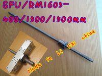 backlash free - RM1605 Ballscrew L400 mm C7 Anti Backlash Rolled Ballscrew SFU1605 ballnut for linear CNC X Y Z
