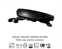 glasses fpv - Hot sell wireless inch virtual video glasses AV IN to with FPV paly TV tuner PS2 GB memory