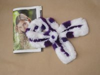 fur flower scarf - Autumn and winter fur scarf dyeing Beaver rabbit wool knitting scarf flower manufacturers