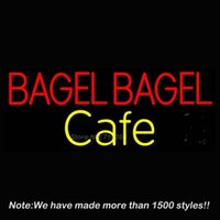 bagel gifts - New Bagel Bagel Cafe Real Glass Neon Sign Neon Bulbs Store Display Glass Tube Handcraft Recreation Advertising Gifts x10