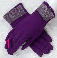 Wholesale Female winter warm gloves cute plush thickening the touch screen cotton gloves refers to touch or lend women fall hands
