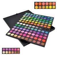 glitter kit - 120 Colors Glitter Eye Shadow for Women Eye Shadow Palette Kits with Eyeshadow Sponge Sticks New Arrivals Hot Sale