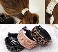 Wholesale Cloth headdress new fashion chain buckle horsetail hair clip Korean hair accessories