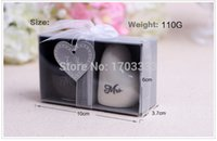 Wholesale Heart Shape Mr and Mrs Salt and Pepper Shakers Ceramic Shaker Kitchen Tools Party Favors Wedding Favor and Gift sets