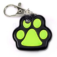 Wholesale Mini Blinking Glitter Pet Safety LED Light Dog Paw Design ID Tags Flashing Charm