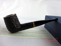 Cheap Grade imported Italian dextromethorphan briar pipe smoking pipe straight black bucket wholesale consult in or out of stock