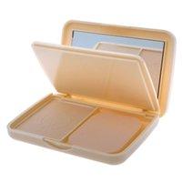 Nuevo maquillaje 3 Color Doble Blanqueamiento Control de aceite prensado Corrector Leche Polvo facial HITM # 61693