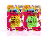 Wholesale R SIM RSIM9 R SIM9 Pro Perfect SIM Card Unlock Official IOS ios7 RSIM for iphone S CWCDMA