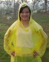 Wholesale Home life necessities outdoor travel portable disposable raincoat color random Sales