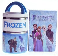 Metal ECO Friendly 930ml Stainless Steel Thermos for Food Lunch Box for Kids w  Insulated Lunch Bag Food Container Children Lunchbox 850ml Frozen Blue Pink Food Jar