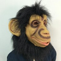 latex animal designs monkey - New design monkey mask full head latex mask Cosplay animal costume halloween party mask