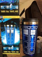 stainless steel travel mug - HOT Doctor Who mug Doctor who Travel Mug TARDIS oz travel stainless steel cups water bottle Official coffee cup SAME DAY SHIPPING