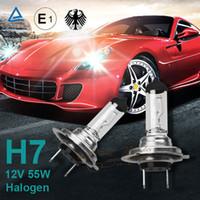 al por mayor h7 led bulbs-El envío libre 10pcs del coche H7 de luz de cruce bombillas de luz LED xenón del halógeno de la linterna del coche del envío 12V 55W 6000K gratuito