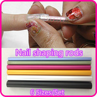 Wholesale Nail Art Tools Different Size Curve Rod Sticks Artificial Nail Tool NR WS65