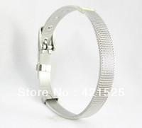 Wholesale MM DIY Stainless Steel Wristband Bracelet DIY Accessories C001 Fit mm slide charms slide letters