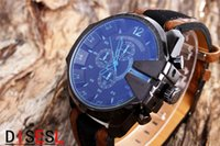 Wholesale 2015 new DIESELDZ4305 Best Selling Mens atmos Clock Leather Strap Watches Full Men Watch Steel Military Quartz Mens watches Large dial