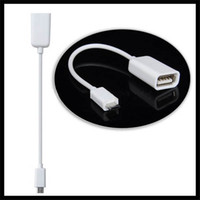 Wholesale 10cm Micro USB OTG Cable for Samsung Galaxy S2 S3 S4 i9500 i9300 i9100 Note N7000 i9220 OTG Cable Adapter Black white