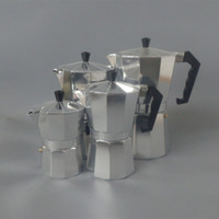 aluminum pot set - Aluminum Moka Espresso Latte Percolator Stove Top Coffee Maker Pot cups cups set H302046