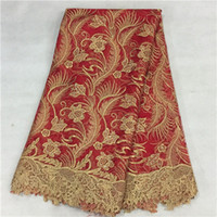 african lace textiles - 5yards African lace with stones embroidery textile lace fabric african french lace high quality