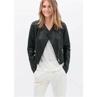 Wholesale Fashion new arrival fashion Women water wash PU clothing women s coat