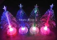 Wholesale 2014 Fashion Flash Christmas Tree Luminous Christmas Decoration Gift Fiber Optic Christmas Tree Fedex