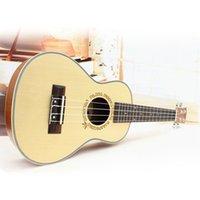 acoustic guitar free music - Professional inch Acoustic Soprano Ukulele Guitar Music Instrument Wood Guitar Spruce Ukulele Hawaii Guitar High Quality