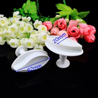Wholesale 2pcs Lily Fondant Cupcake Cake Plunger Cookie Cutter Mold Mould Baking DIY Tools