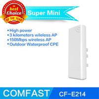 al por mayor amplificador de señal de potencia-2016 Limited alta potencia 150mbps Ar9285 Wifi Signal Booster inalámbrico al aire libre Cpe red puente Repteater Comfast Cf-e214n Wi Fi punto de acceso