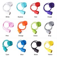 Wholesale DIY Personality E27 Colorful Silicone Pendant Lamp holder High Quality Pendant Lights with cm cord ceiling base